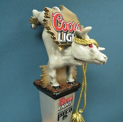Very Rare Coors Light PRCA Rodeo Bobble Head Bull Beer Tap Handle
