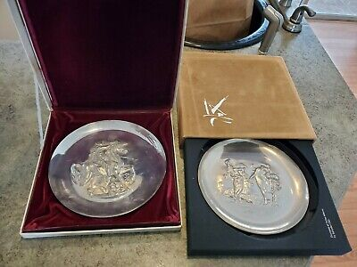 SALVADOR DALI Dionysos Dyonisiaque Sterling Silver Lincoln Mint 1971 1972 Plates