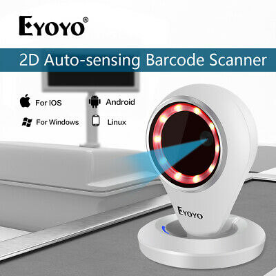 Eyoyo EY-6500 2D Laser Barcode Scanner Handfree Barcode Reader for Android Store