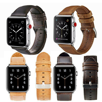 100% Genuine Leather Band Strap for iWatch Series 1/2/3/4 38/42 40/44 mm