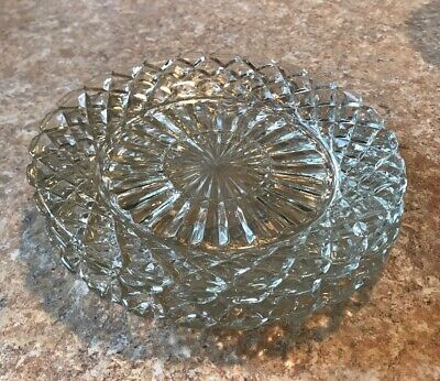 3 Anchor Hocking 7 Inch Waterford Waffle Depression Glass Bread Or Salad Plates