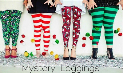 NEW LuLaRoe L//XL Kids Leggings LOT OF 6 Mystery Halloween Christmas Holiday