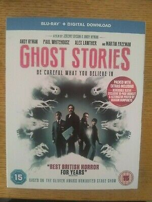 GHOST STORIES (2017) Blu ray & Digital Download.  Cert 15. With slipcover.