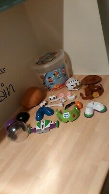 Mr Potato Head Toy Story 3 Playskool Disney Store Exclusive Bucket 100% Complete