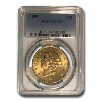 1899 $20 Liberty Gold Double Eagle MS-63 PCGS - SKU #12503