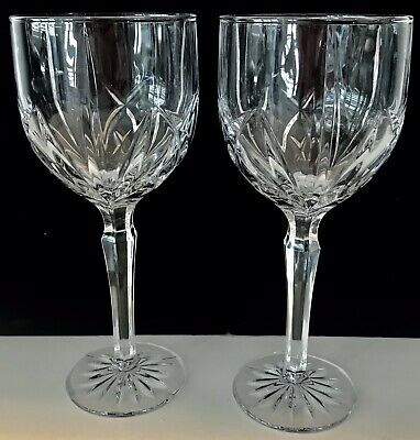 "Marquis By Waterford ""Brookside""  Pair Of  All Purpose Goblets /Wine Glasses"