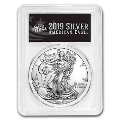 2019 Silver American Eagle MS-70 PCGS (First Day, Black Label) - SKU#177812