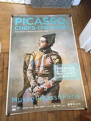 Affiche Picasso Chefs D Oeuvre Arlequin Musee Picasso 120 X 176~