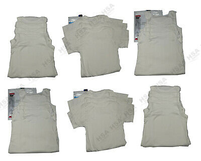 CLEARANCE 3/4 Pack Children Boys/Girls Off White 100% Cotton Plain Vests/Tshirts