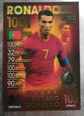 Match Attax 101 2019 Cristiano Ronaldo 100 Club Card