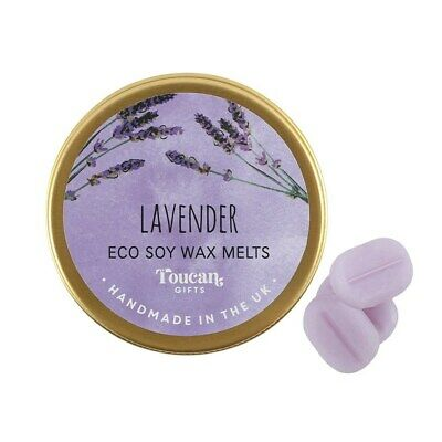Lavender Eco Soy Mini Wax Melts Handmade In UK in a Tin Container