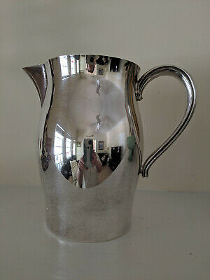 "Vintage Paul Revere Reproduction Water Pitcher 7.5"" Silver Plate Mid Century"