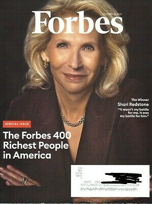Forbes October 31, 2019 Special Issue The Forbes 400 Richest People in America