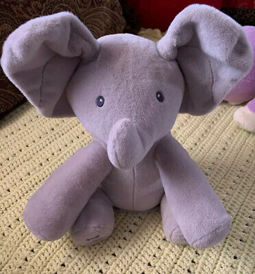 Baby GUND  Musical Animated Flappy The Elephant Plush Toy Peek A Boo