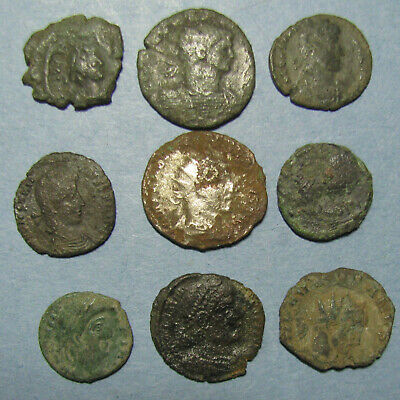 Nine Decent Roman  Imperial, Provincial and Byzantine Coins