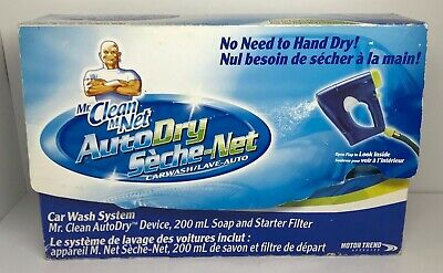 Mr. Clean Auto Dry Car Wash System With Filter And Starter Soap NEW/OPEN BOX