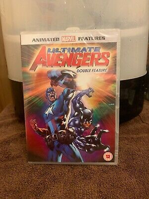 Ultimate Avengers Movie 1 & 2 Rise Of The Panther DVD Marvel Animated Cartoon