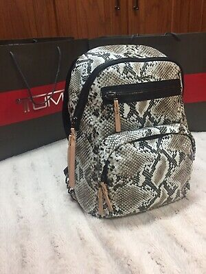 New from Tumi Voyageur Collection Python Skin Women's Backpack RARE***