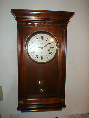 Howard Miller 613-229 Wall Clock Cherry 8 Day Key Wound Hermle Westminster Chime