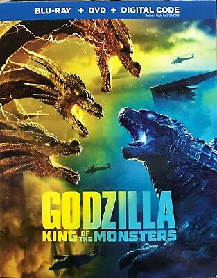 GODZILLA KING OF THE MONSTERS (BLU-RAY + DVD + DIGITAL) Brand New Sealed