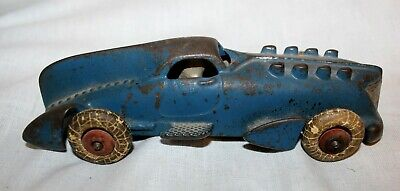 """Genuine Antique 1920's Cast Iron Hubley Racer Large Tail Fin, with  Driver 7"""""""