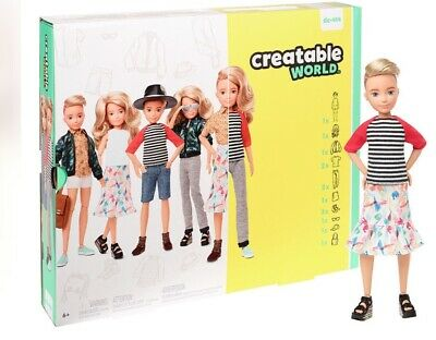 CREATABLE WORLD Dc-414 Blonde Deluxe Character Kit Customisable Doll Clothes Wig