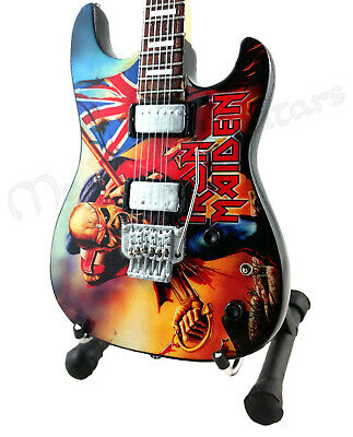 Miniature Guitar IRON MAIDEN with free stand. TROOPER