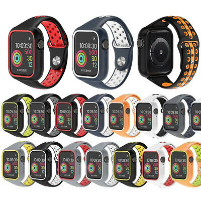 Silicone Sport Replace Wrist Band Strap   Case For iWatch Apple Watch Series 5 4