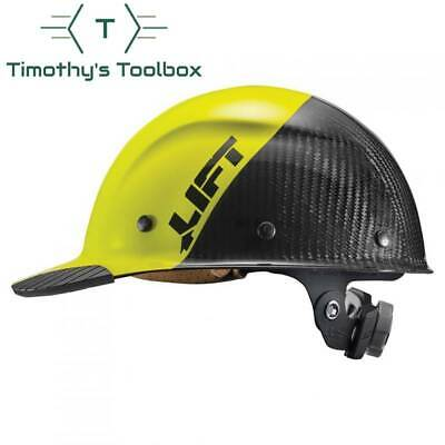 Lift Safety Dax 50/50 Carbon Fiber Cap Hard Hat Yellow-Black
