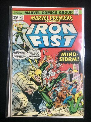 Vintage Marvel Premiere Featuring. Iron Fist vol. 1, no. 25, 1975, Mindstorm