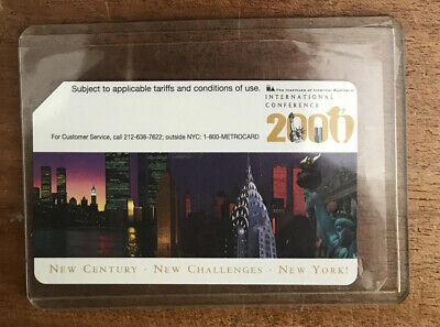 International Conference 2000 NYC Subway MetroCard in mint new condition