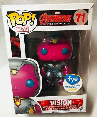 Funko Pop Marvel Avengers Age Of Ultron — Vision 71 Metallic FYE Exclusive Rare!