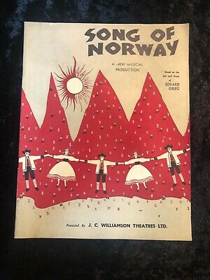 Song of Norway musical program, Williamson Theatres, Sydney, 1951, Edvard Grieg