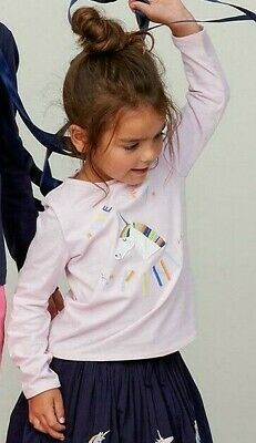 Little Joules girls Ava One of a Kind pink Unicorn top age 6 years BNWT £19.95