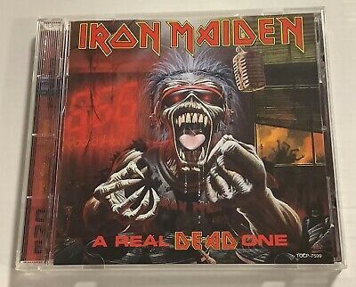 IRON MAIDEN A Real DEAD One CD 1993 Japan TOCP-7599 with Poster