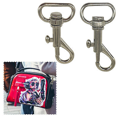 Silver Bag Lobster Trigger Swivel Clasps Clips Snap Hook Keyrings Key Findings
