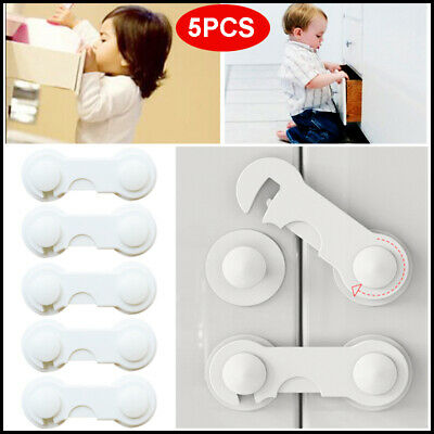 2/5Pcs Child Infant Baby Kids Drawer Door Cabinet Cupboard Protect Safety Locks