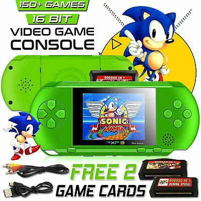 PXP3 Portable Handheld Video Game Console 16 Bit Retro Games Free Cards Gift