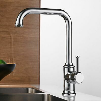 Kitchen Faucets Black Color Brass Crane Hot And Cold Water Mixer Tap Single Hole