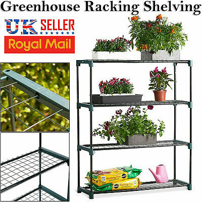 4 Tier Steel Mini Garden Greenhouse Staging Display Shelving Plant Stand New
