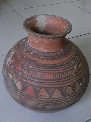 Ancient Huge Size Teracotta Painted Pot Indus Valley 2500 BC  No Reserve #IK504