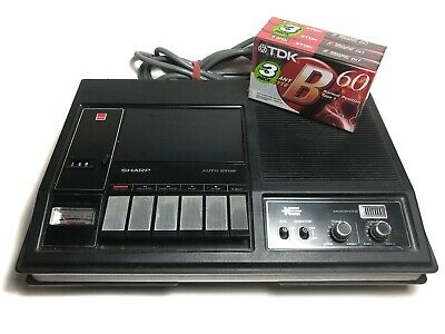 Vintage 1975 Sharp Cassette Recorder Player RD-465X With Blank TDK Tapes
