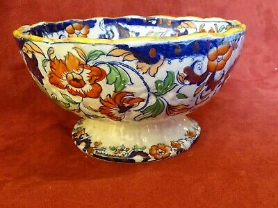 Antique Amherst Japan ironstone Pedestal Bowl a/f