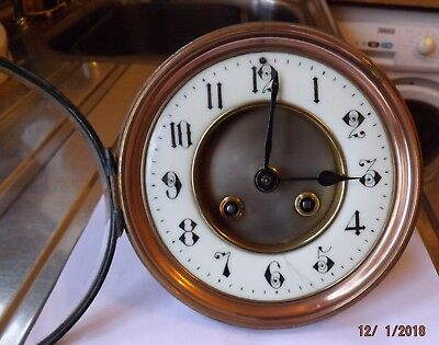 Large Japy Freres 8 Day Clock movement, fits 5 1/4 inch hole
