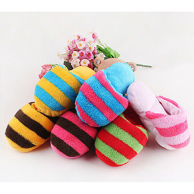 Fantastic Dog Pet Puppy Toy doggy Chew Play Squeaker small Plush Slipper ZY