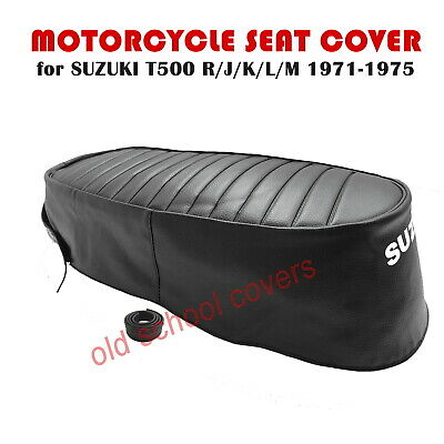 Suzuki T500 R J K L M 1971-75 Replica Seat Cover With White Logo & Strap T 500