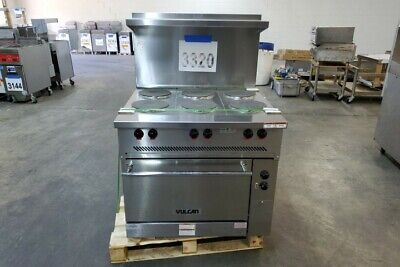 """3320 New S/D - Vulcan 36"""" Electric Range 6 French Plate, Standard Oven EV36S-6FP"""