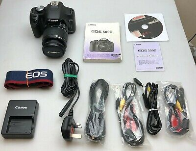 Canon Eos 500D Digital Slr Camera Body + Efs 18-55Mm Zoom Lens Function Perfect