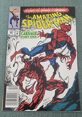 Amazing Spider Man 361 Newsstand 1St Carnage The Spawn Of Venom!! Nm Nm+ 9.6-9.8