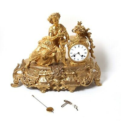 French mantel clock. Bronze. The end of the 19th century